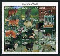 Antigua Scott #1918 MNH S/S Domestic Cats FAUNA CV$9+ ISH-1