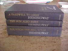 Ernest Hemingway FOR WHOM THE BELL TOLLS + A FAREWELL TO ARMS + SUN ALSO RISES