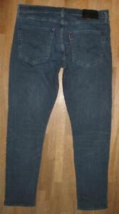 """"""" Levi `S Lot 512 """" D'Homme Jeans / Blue-Jeans En Foncé Bleu W36 """" / L32 """""""