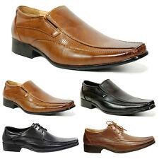 Mens Smart Wedding Shoes Italian Formal Office Casual Dress Leather Size 6-12 Black UK 9 / EU 43
