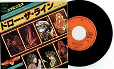 "AEROSMITH - DRAW THE LINE - 7"" 45 RECORD w PICT INSERT - 1977 JAPAN"