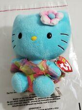 "TY Beanie Babies HELLO KITTY Tourquiose Hawaiian TuTu Sanrio 2014 6"" New TAG"