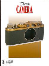 Classic Camera  N.68 Novembre 2008 rivista in italiano collezionismo fotografico