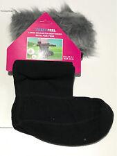 3 Pairs Ladies Plain Wellington Boot Fleece Socks Welly Liners Festival Adults