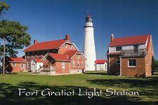 Fort Gratiot Light Station Michigan, Lake Huron, Great Lakes Lighthouse Postcard