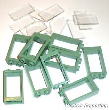 Lego WINDOW FRAME 1X2X3, SAND GREEN, with Clear Glass, 60593 Lot of 10, New