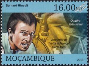 BERNARD HINAULT Tour de France Winner Bicycle/Cycling Stamp (2013 Mozambique)