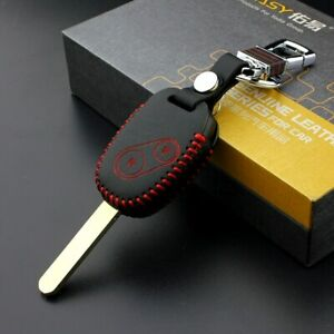 Leather Key Cover Car Key Fob Bag Case Wallet Holder for Honda Jazz Civic Fit