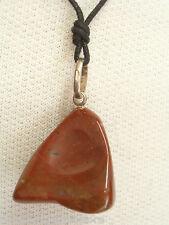 Ciondolo in ARGENTO 925 con DIASPRO rosso naturale e girocollo - pietra dura -