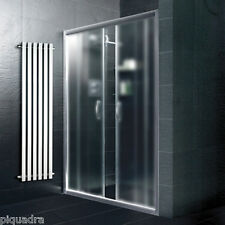 Box doccia nicchia 155 porta scorrevole al centro in cristallo 6 mm vetro opaco