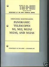 Panoramic Telescopes, M1 and M12 series, Maintenance