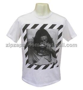 Mens Vintage White Funny Tshirt Punk Pop Shameless Retro Cocaine Cool T-shirt