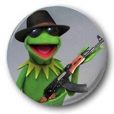 """Kermit der Frosch AK47 25mm 1"""" Knopf-abzeichen Kinder Retro TV 70er jahre"""