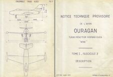 Dassault MD.450 Ouragan Manual rare detailed archive Historic Period French Jet