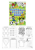 6 Football Puzzle Books - A6 Size - Small Loot/Party Bag Fillers Wedding/Kids
