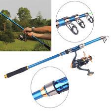 Professional Carbon Fiber Telescope Fishing Rod Travel Sea Spinning Pole 2.1m