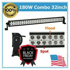 180W 32inch LED Work Light Bar Combo Beam Driving Fog Toyota Bulbs Vehicle Roof