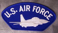 Embroidered Military Patch USAF Air Force Jet Fighter Airplane NEW
