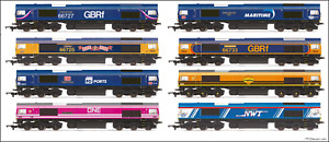 Hornby Class 66 Locos, Choice of 12, Various Liveries, OO Gauge, Brand New