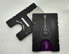 BilletVault Aluminum Wallet/Card Holder, RFID protection,  Guitar, Black