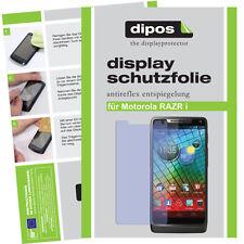 2x Motorola RAZR I Schutzfolie matt Displayschutz Folie Antireflex passgenau