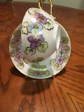 Antique J.P.L  China Tea Cup And Saucer Made In France