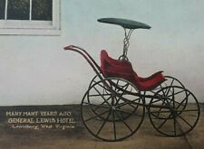 Postcard Wv Lewisburg Baby Carriage Incredible Hand Colored pre 1915