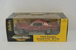 Ertl Collectibles American Muscle 1969 Pontiac Grand Prix SJ428 Diecast Car 1:18