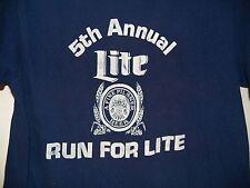 Vintage 80's MILLER LITE Beer 1983 Run For Lite Original soft thin retro T-Shirt