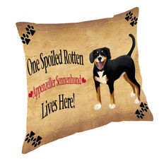 Appenzeller Sennenhund Spoiled Rotten Dog Throw Pillow 14x14