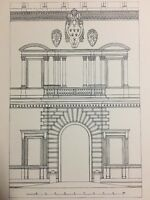 1907 Architecture Print Farnese Palace Main Entrance Rome Italy Antique French
