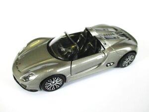 Porsche Spyder 918 Cabriolet, Model Car Metal 12 CM Welly Nex , New