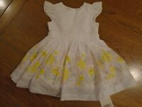 BNWT baby girl dress & pants outfit. Mothercare. RRP £16. Newborn. 10lb  (2/2)