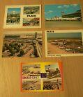 AEROPORT-ORLY- CARAVELLE-AVION-carte postale-AVIATION-AIR FRANCE