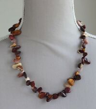 MOOKAITE CHUNKY NUGGET NECKLACE ~ GOLD PLATED HEART CLASP 21""