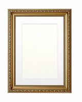 Ornate Shabby Chic Picture, Photo Frame Poster Frame with Bespoke Mount Gunmetal
