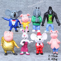8pcs/set Movie Sing Cartoon Action Figure Childern Toys Model present