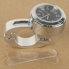 "7/8"" 1"" Waterproof Handle Bar Mount Clock for Yamaha Raider Road Star Virago New"