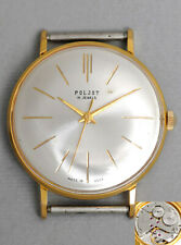 Klassische elegante grosse POLJOT Uhr USSR vintage retro dress watch 1€ Auktion!