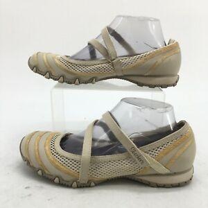 Skechers Proposal Mary Jane Womens 8.5 Natural Hook & Loop Comfort Shoes 21120