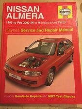 NISSAN ALMERA HAYNES SERVICE & REPAIR MANUAL 1.4 1.6 PETROL MODELS 1995-2000 N-V