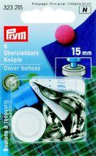 Überziehbare Knöpfe 15 mm Messing rostfrei silberfarbig