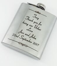 Personalised Engraved Hip Flask Father's Gift For Him Father Dad Him Graduation