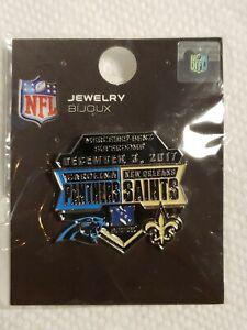 2017 Carolina Panthers VS New Orleans Saints 12/3/17 Game Day Pin FREE SHIPPING
