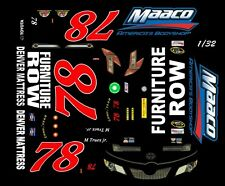 #78 Martin Truex jr. MAACO Toyota 1/32nd Slot Car Waterslide Decal