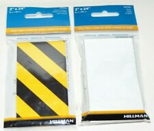 New listing Hillman 840378 Reflective Tape, Black And Yellow, 2� X 24�, & White New!