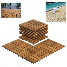 Wooden Floor Tiles Interlocking Solid Teak Wood Outdoor Spa Patio Pool Bathroom