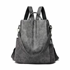 Backpack Women Leather Multifuction Bagpack Casual Anti Theft Teenager Schoolbag