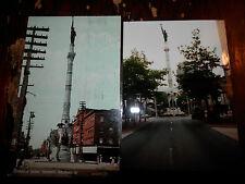 ALLENTOWN PA CIVIL WAR SOLDIERS SAILORS MONUMENT  OLD Postcard plus MODERN PHOTO