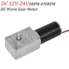 Dc12v Gear Reduction Motor Worm Reversible High Torque Turbo Geared Motor 16rpm